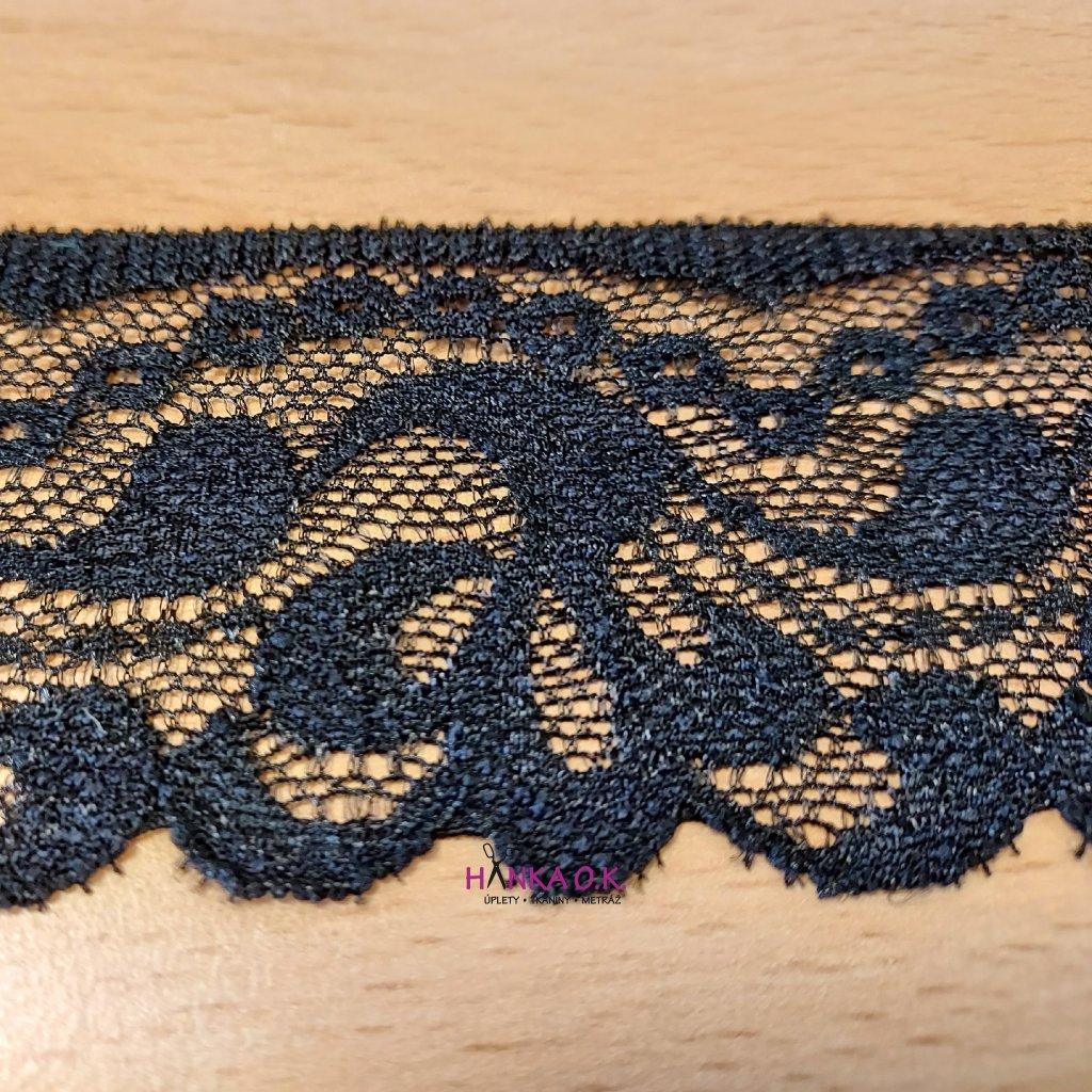 Krajka elastická černá 5cm
