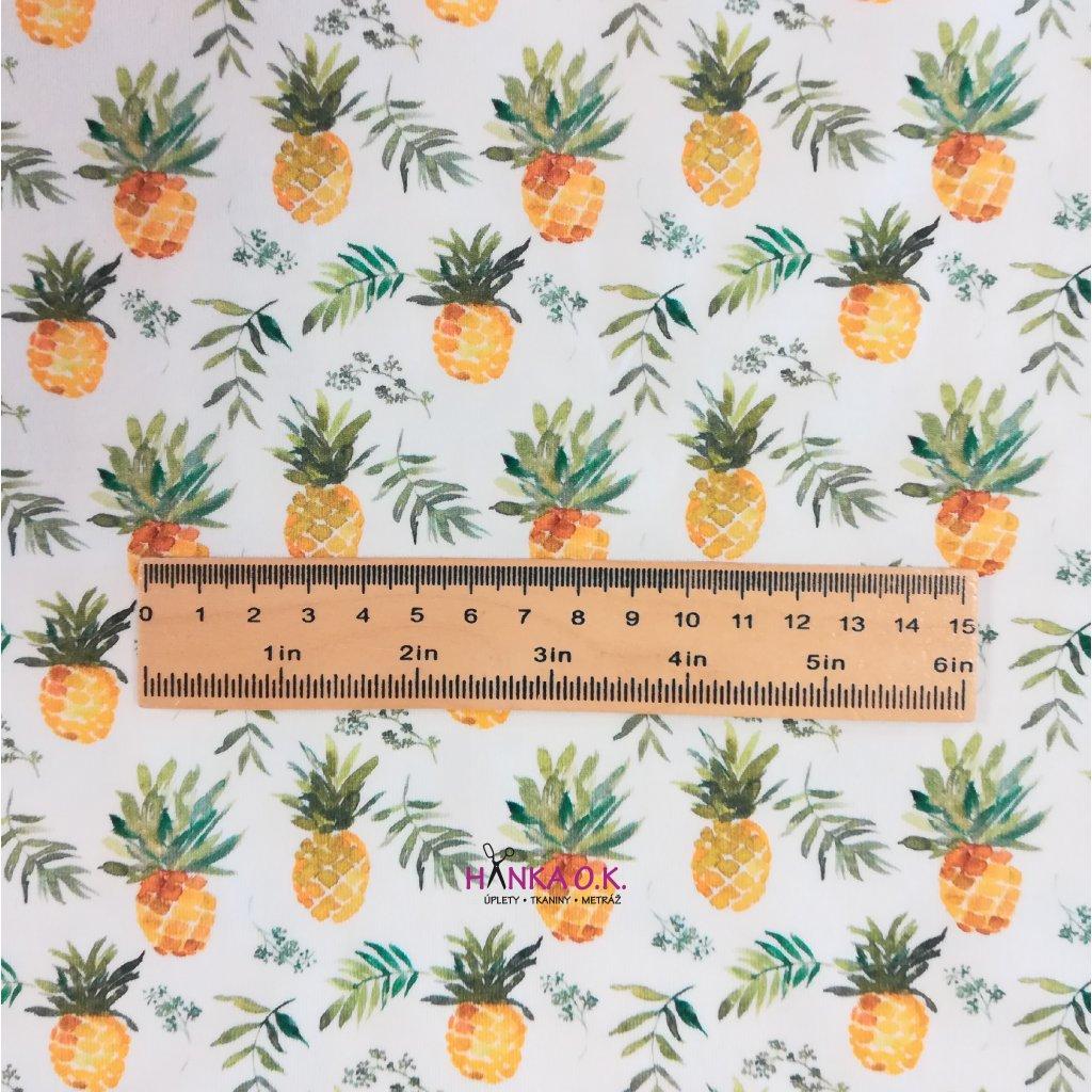 Úplet ananasy na ecru 200g