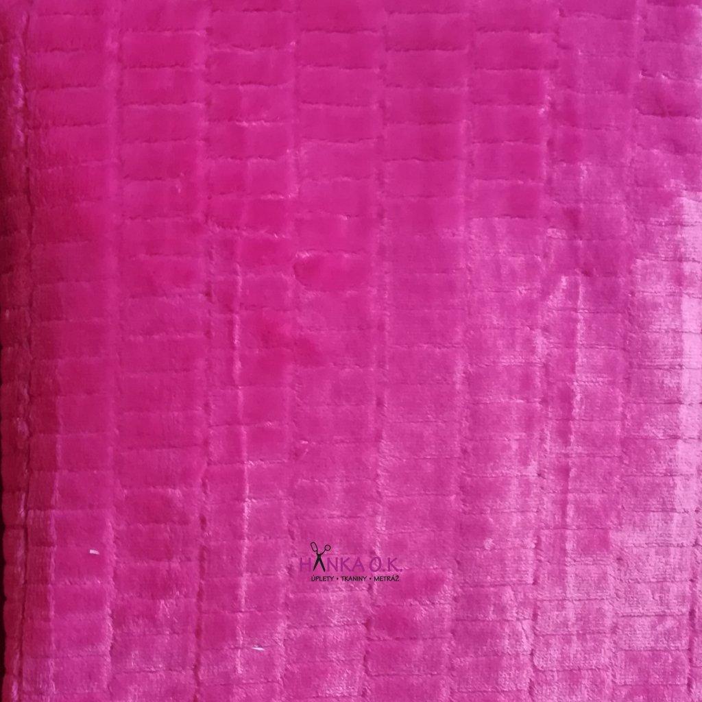 Minky floppy s kostkou růžová