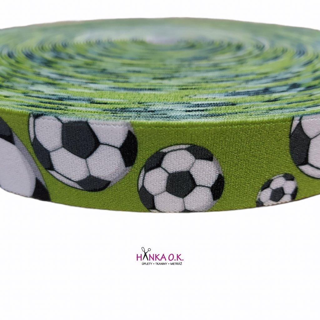 Guma - pruženka ozdobná 25mm fotbalové míče