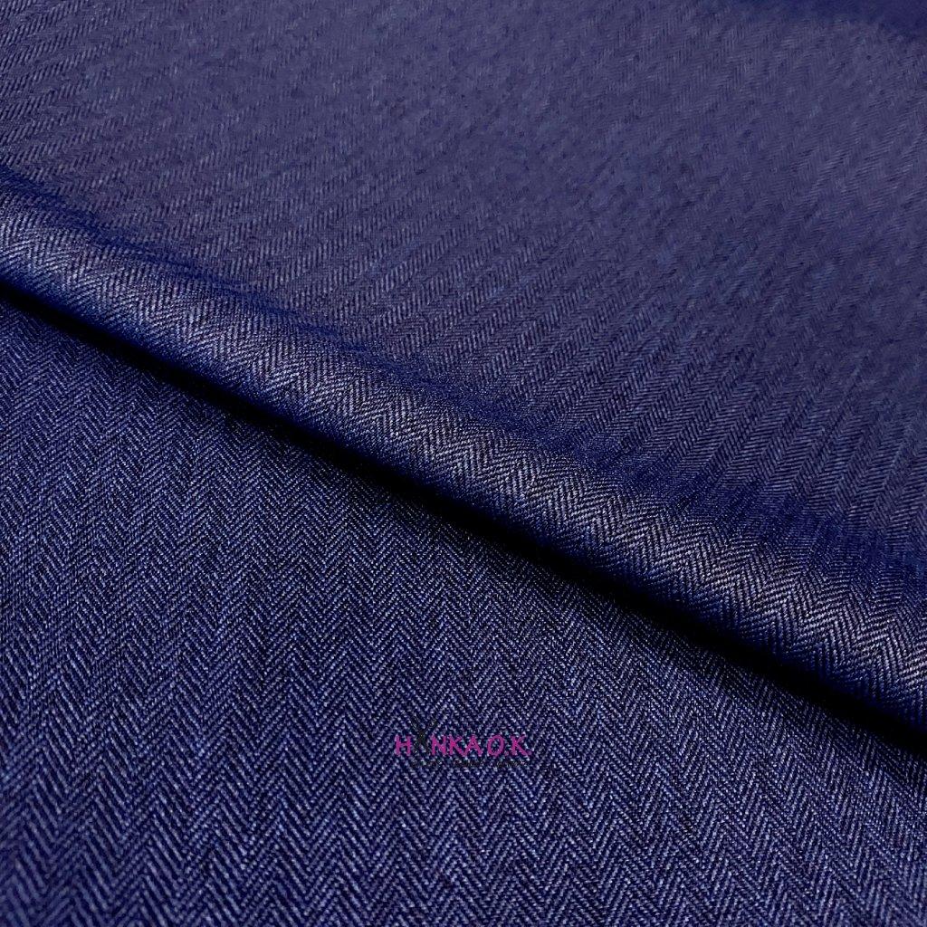 Softshell zimní 3 vrstvý, vzor rybí kosti, 380g - modrá jeans