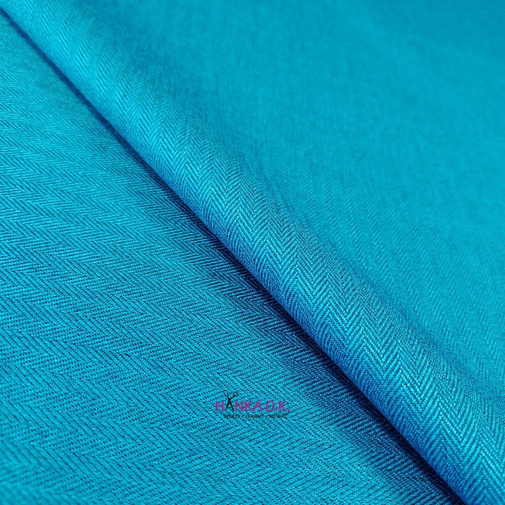 Softshell zimní 3 vrstvý, vzor rybí kosti, 380g - modrá aqua