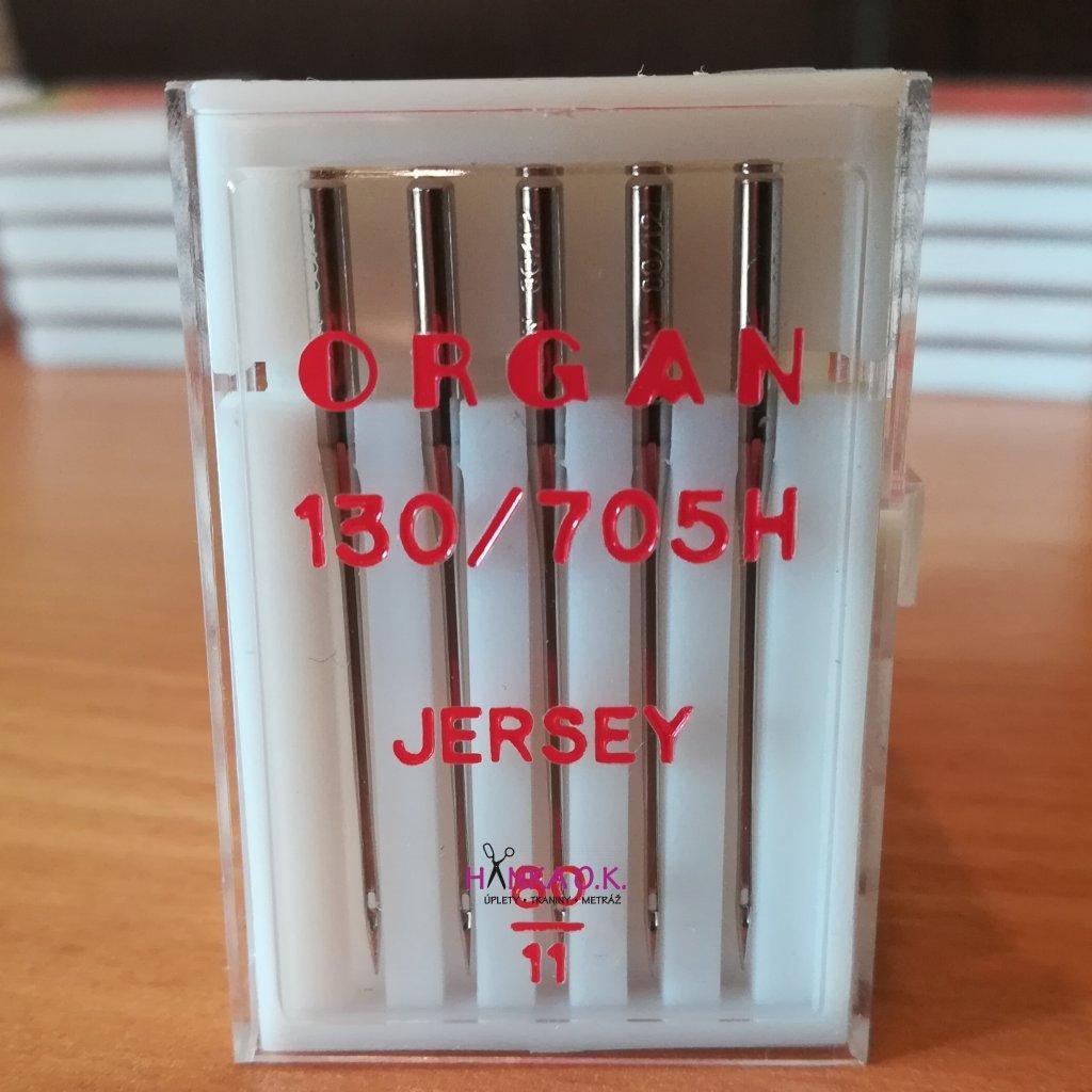 Strojové jehly ORGAN Jersey 80/11 - 5 ks - 130/705H
