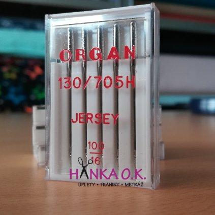 Strojové jehly ORGAN Jersey 100/16 - 5 ks - 130/705H