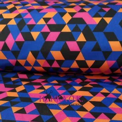 Softshell zimní 3 vrstvý barevné trojúhelníky, 320g