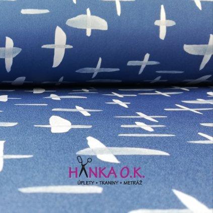 Softshell zimní 3 vrstvý křížky modré, 320g