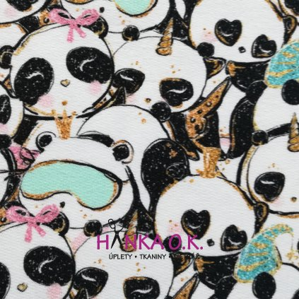 Teplákovina nepočesaná pandy 240 g