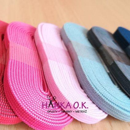 Pruženka - guma - oděvní, šíře 6 mm (1 balení = 2 m) - různé barvy