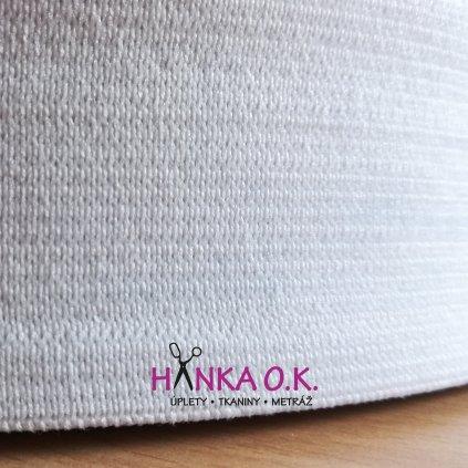 Pruženka - guma pletená galonová - oděvní, šíře 5 cm - černá, bílá