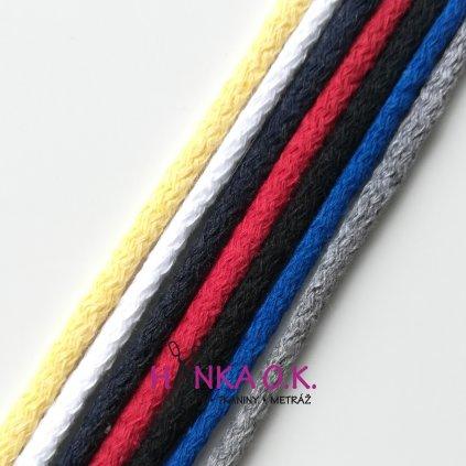 Šňůra kulatá oděvní průměr 0,5 cm bavlna