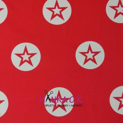 Teplákovina červená velké hvězdy - 240g
