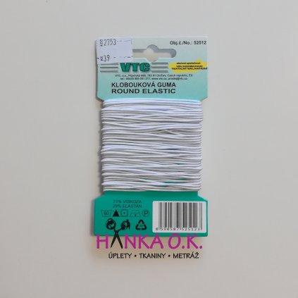Klobouková guma 1,2mm na kartě 10m
