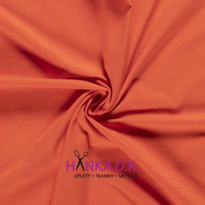 Úplet jednolícní oranžová 235g