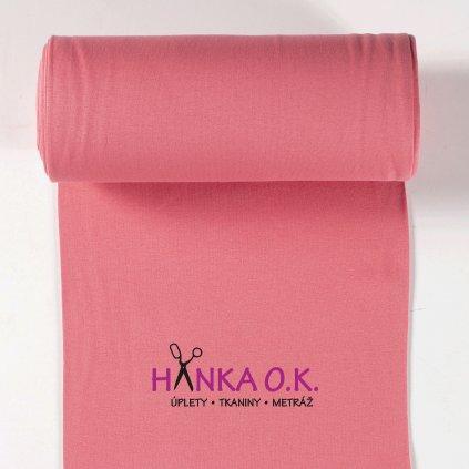 Náplet hladký růžový dark pink tunel 2x35cm