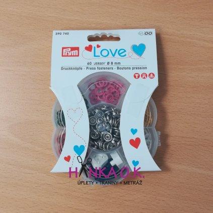 Knoflík stiskací 8mm Jersey PRYM LOVE - patentka 60 ks různé barvy