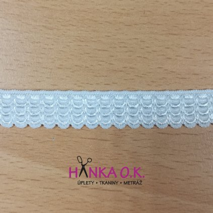 Pruženka prádlová 14mm - bílá