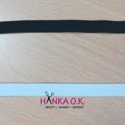Pruženka - guma pletená galonová - oděvní, šíře 1 cm - černá, bílá
