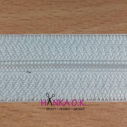 Zdrhovadlový pás - nekonečný zip - 3mm WS0 bílý