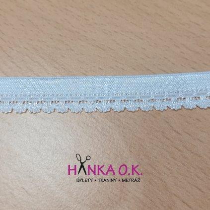 Pruženka prádlová 11mm - bílá