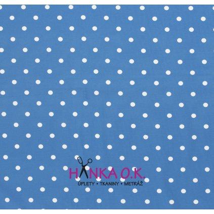 uplet modrý s puntíkem