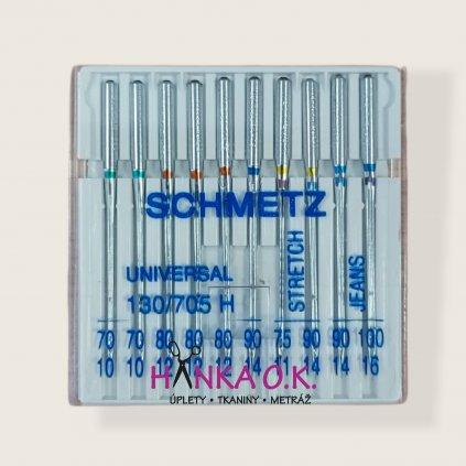 Strojové jehly SCHMETZ 130/705 H EXTRASORTIMENT mix 10ks