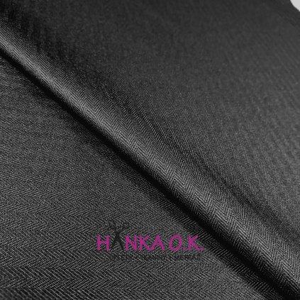 Softshell zimní 3 vrstvý, vzor rybí kosti, 380g - černá
