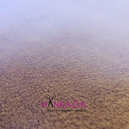 Minky hladké fialová
