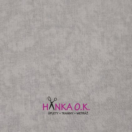 Bavlněná tkanina - plátno 135g - batika světle šedá