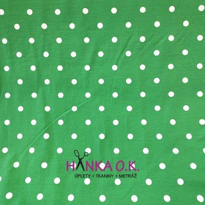 Úplet bílý puntík na zelené hráškové 200g