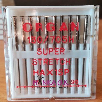 Strojové jehly ORGAN Super stretch 10 ks - HAX1SP