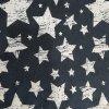 Úplet jednolícní bílé hvězdy na jeans 220g
