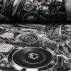 Teplákovina nepočesaná digitisk motory 240g