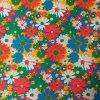 Bavlněná tkanina - plátno 135g - flowers červená