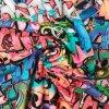 Teplákovina nepočesaná graffiti 240 g