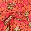 Plavkovina - sportovní úplet květy růžová neon 220g