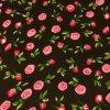 Viskózová tkanina růžičky na černé 110g
