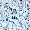 Teplákovina nepočesaná roboti na modré baby 240g