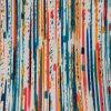 Viskozový úplet 210g - barevné svislé pruhy
