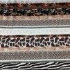 Panel úpletový zvířecí vzor pruhy viskóza 210g - 100x170cm