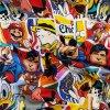 Teplákovina nepočesaná digitisk komiks mix 240g