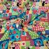 Teplákovina nepočesaná digitisk Minnie patchwork 240g