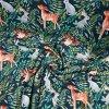 Teplákovina (french terry úplet) lesní zvířátka v kapradí 250g