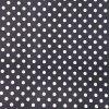 Bavlněná tkanina - plátno 135g - puntíky na modré navy