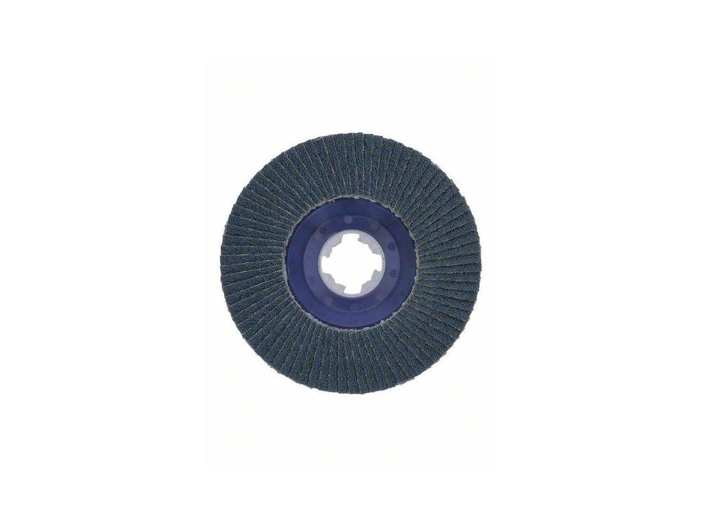 BOSCH Lamelové brusné kotouče Best for Metal systému X-LOCK, rovná verze, plastový list, Ø 125mm, G 80, X571, 1kus Professional