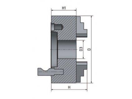 3-čelisťové sklíčidlo s centrickým upínáním ø 315 mm Camlock 8