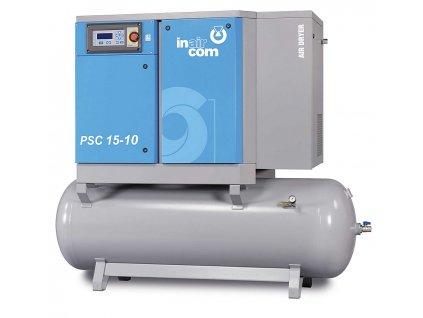 120326 psc m 15 10 500 stacionarni sroubovy kompresor na nadobe s kondenzacni susickou