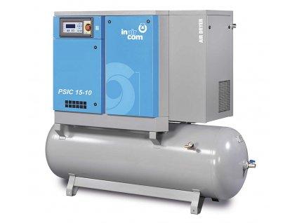 120500 psic m 15 10 500 stacionarni sroubovy kompresor na tlakove nadobe s frekvencnim menicem a kondenzacni susickou