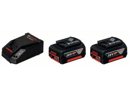 BOSCH Základní souprava 2x GBA 18V 4,0 Ah M-C + AL 1860 CV