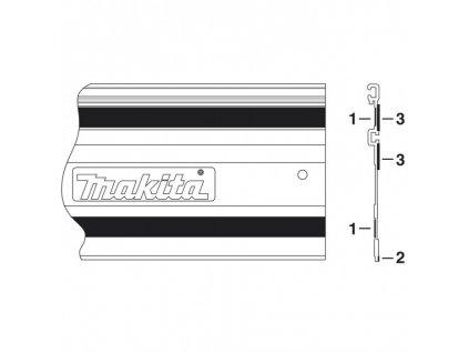 Kluzná páska k liště 1400mm - 413101-9