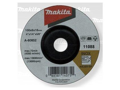 Brusný kotouč 100x6x16 nerez - A-80852